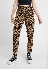 Urban Classics - LADIES ELASTIC WAIST PANTS 2 PACK - Trousers - black - 0