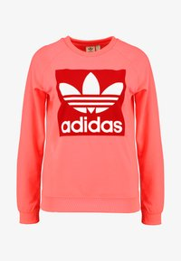 adidas Originals - TREFOIL CREW - Mikina - flash red - 3