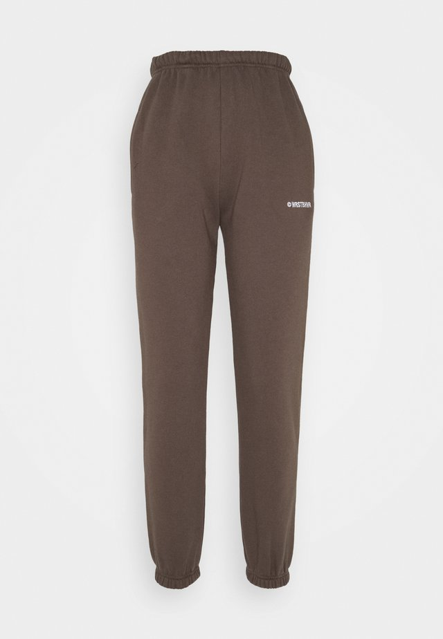FAITH PANTS - Teplákové kalhoty - dark brown
