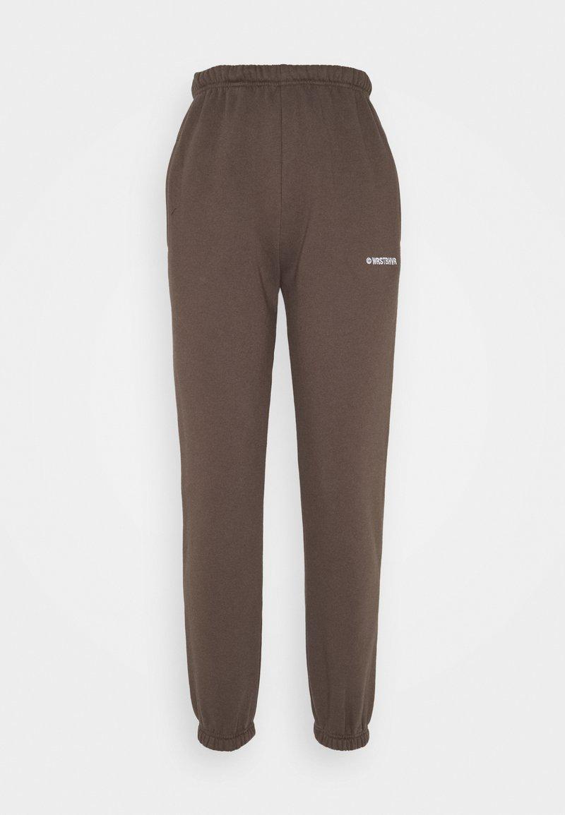 WRSTBHVR - FAITH PANTS - Tracksuit bottoms - dark brown