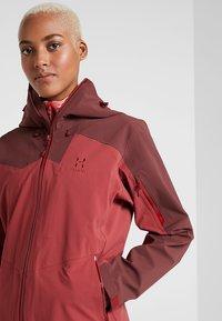 Haglöfs - STIPE JACKET WOMEN - Snowboard jacket - brick red/maroon red - 3
