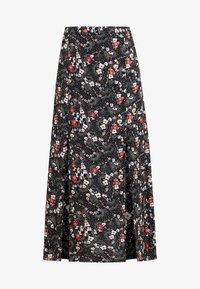 AUSTIN FLORAL MIDI - Maxi skirt - black