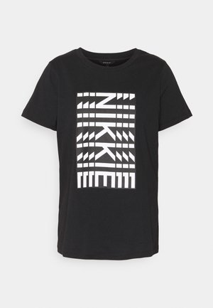 NEW NIKKIE - Print T-shirt - black
