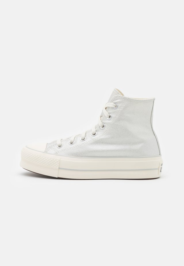 CHUCK TAYLOR ALL STAR LIFT - Zapatillas altas - pure silver/egret