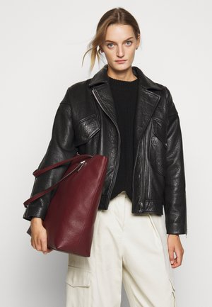DOWNTOWN - Shopping Bag - dark red