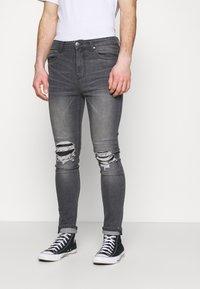 274 - PATCH - Skinny džíny - grey - 0