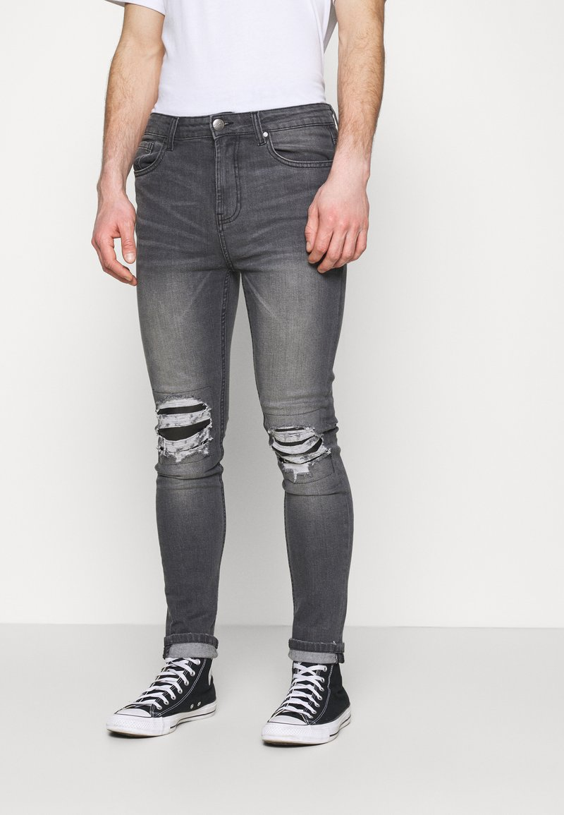 274 - PATCH - Skinny džíny - grey