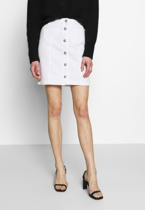 ELLIS - A-line skirt - white wash