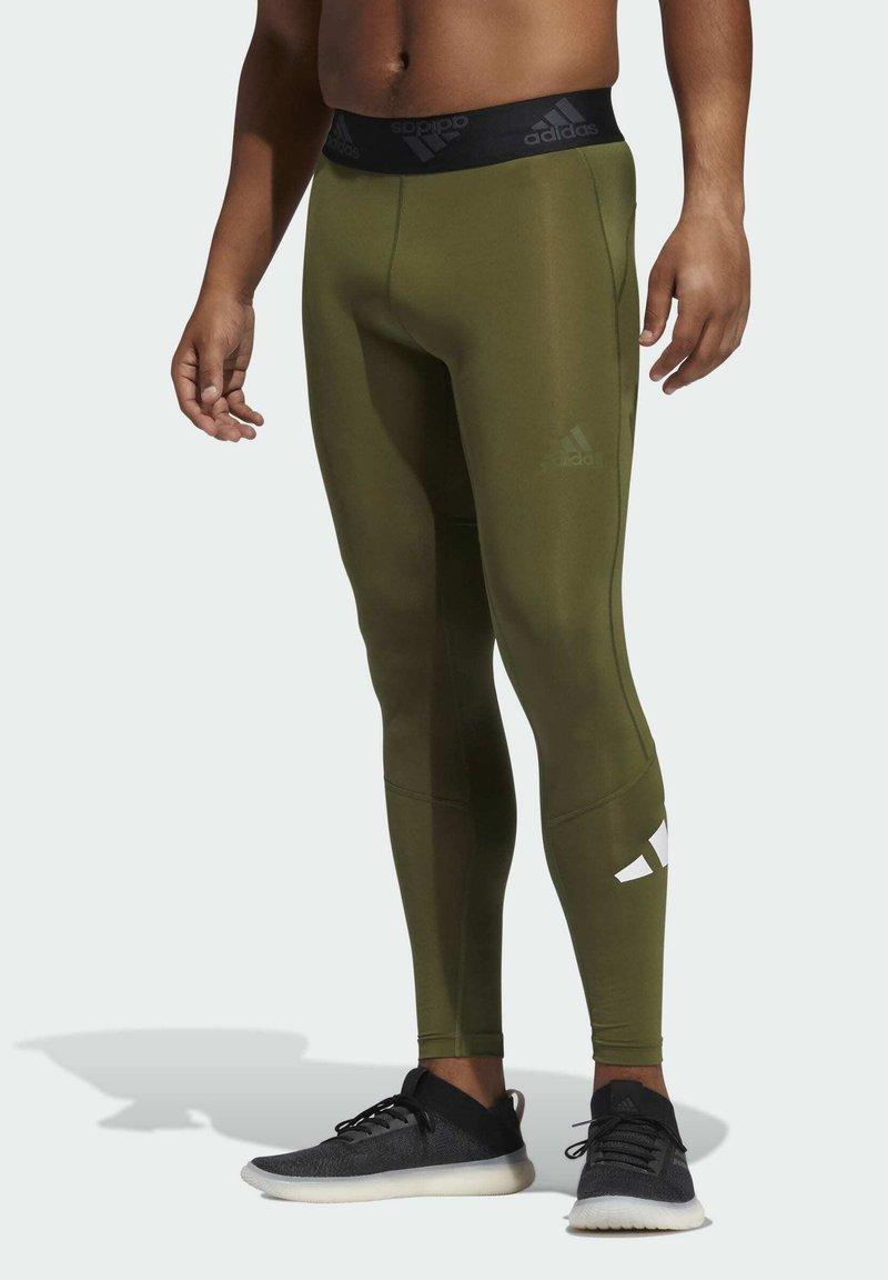 adidas Performance - TURF 3 BAR LT PRIMEGREEN TECHFIT WORKOUT COMPRESSION LEGGINGS - Leggings - green
