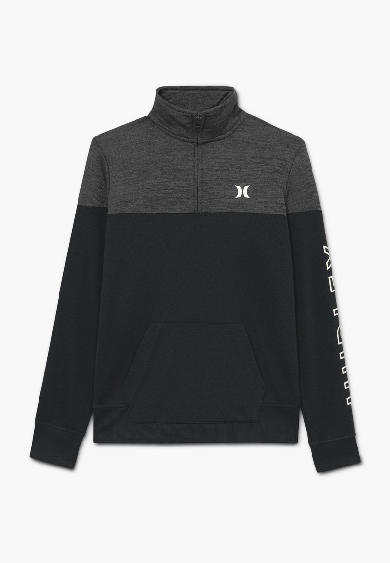 Hurley - SOLAR 1/2 ZIP - Collegepaita - black heather