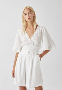 PULL&BEAR - Blouse - white - 0