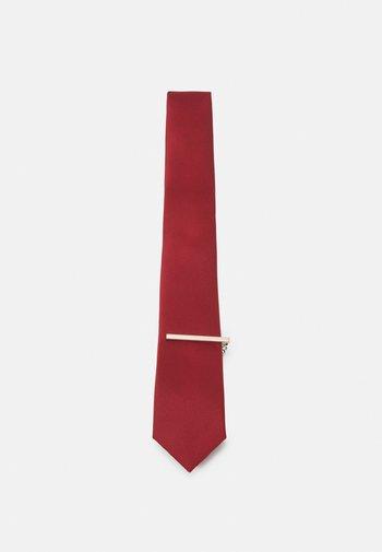 SET - Cravatta - dark red