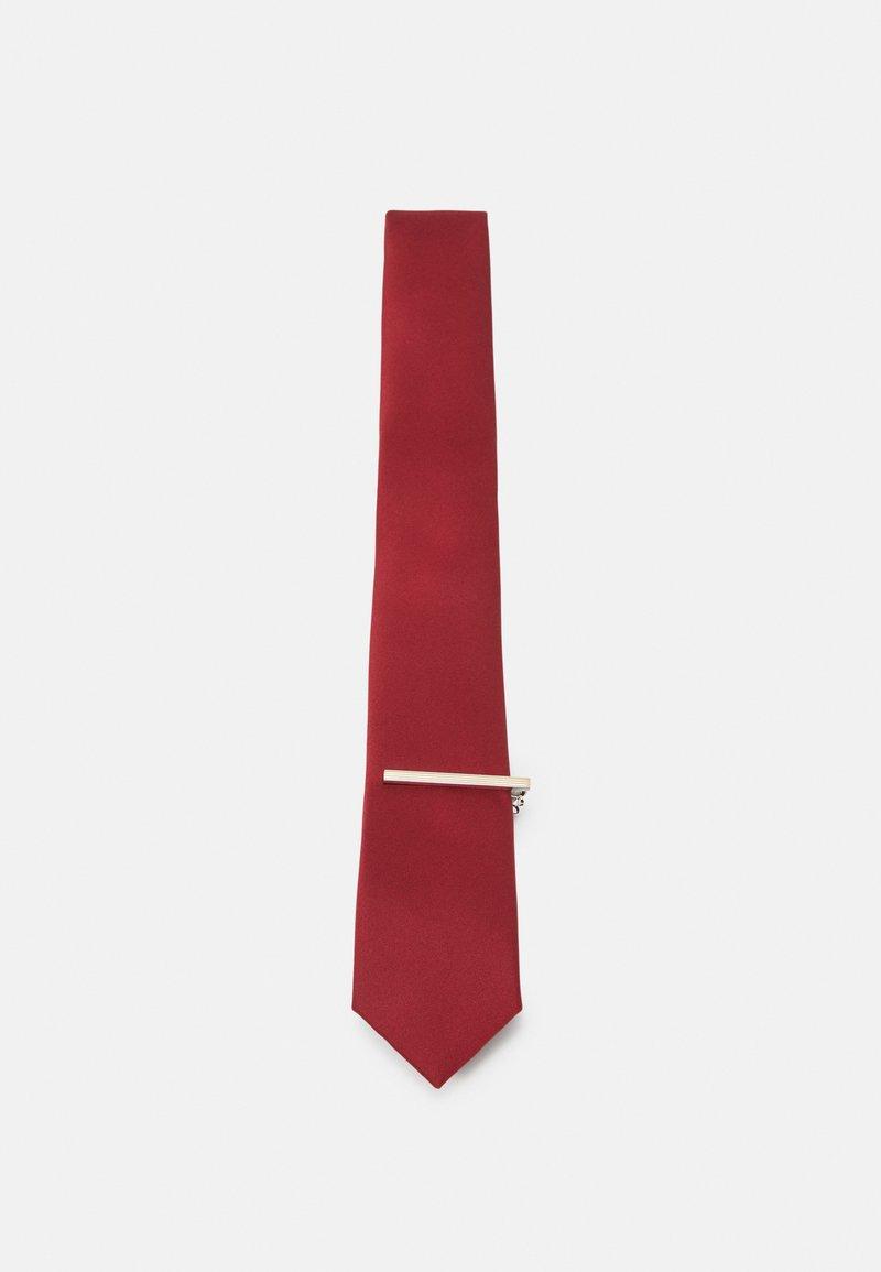 Pier One - SET - Cravatta - dark red
