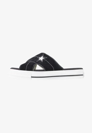 ONE STAR  - Sandalias planas - black/egret/white