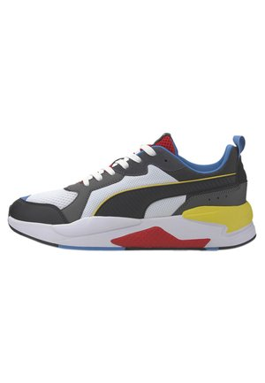 PUMA X-RAY TRAINERS UNISEX - Matalavartiset tennarit - white-blk-dk shadow-red-blue