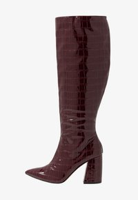 Miss Selfridge - OLYMPIA POINT STRAIGHT SHAFTKNEE HIGH - Stiefel - burgundy - 1