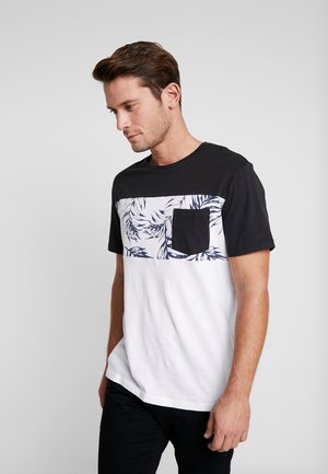 Camiseta estampada - white/black