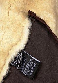 Schott - Veste en cuir - dark brown - 5