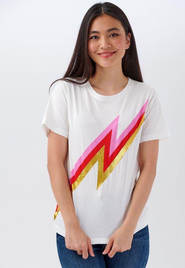 HOT LIGHTNING - Print T-shirt - off- white