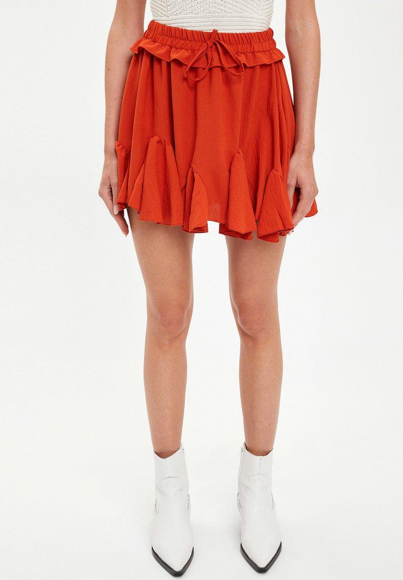 DeFacto - A-line skirt - bordeaux