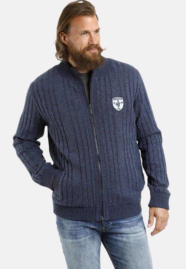 JUST - Vest - blau melange
