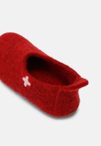 Living Kitzbühel - SCHWEIZER KREUZ UNISEX - Pantoffels - rot - 4