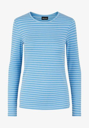 MIT LANGEN ÄRMELN GESTREIFTES - Long sleeved top - kentucky blue