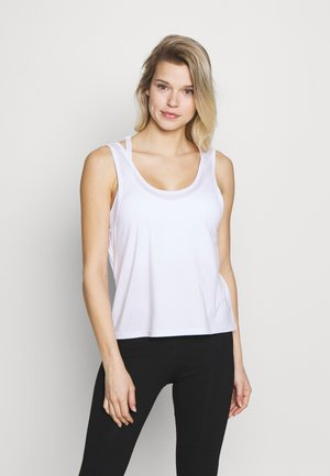 TWIST BACK TANK - Top - white