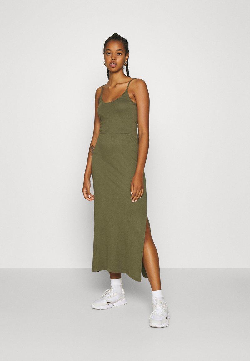 Even&Odd - Basic Strappy Maxikleid - Maxi dress - khaki