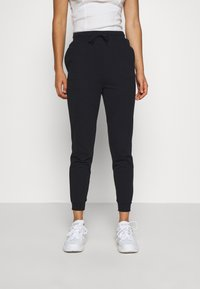 Even&Odd - SLIM FIT SWEAT JOGGERS  - Tracksuit bottoms - black - 0