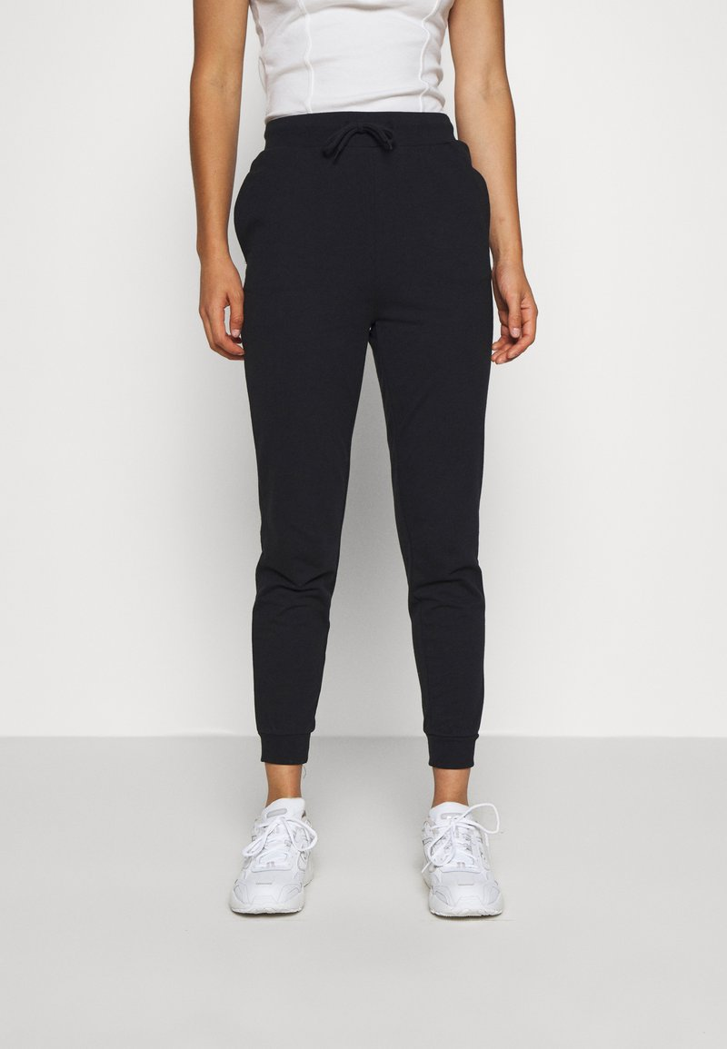 Even&Odd - SLIM FIT SWEAT JOGGERS  - Tracksuit bottoms - black