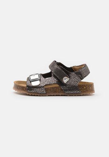 FUXIO - Sandals - noir/argent