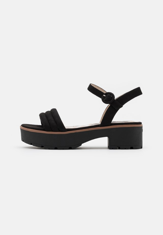 CURIE - Sandalen met plateauzool - black