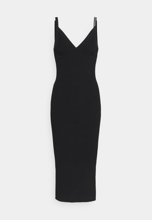 STRAPPY LONG KNITTEDDRESS - Jumper dress - ck black