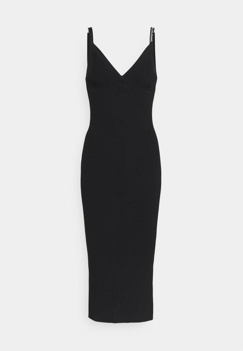 Calvin Klein Jeans - STRAPPY LONG KNITTEDDRESS - Jumper dress - ck black