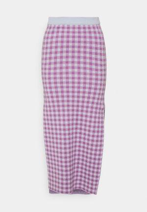 GLOW SKIRT - Pencil skirt - pink/blue