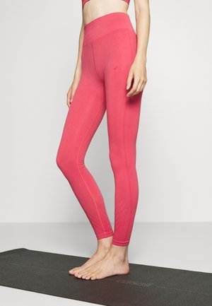 ONPJAVO CIRCULAR TIGHTS - Leggings - holly berry