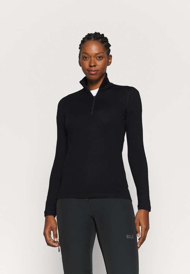 TECH HALF ZIP - Sports shirt - black