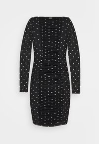 Guess - GAYLE DRESS - Shift dress - black/white - 1