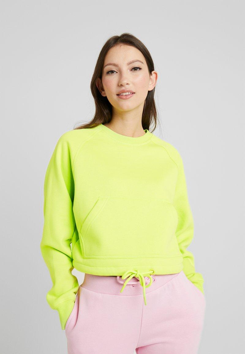 Urban Classics - LADIES SHORT RAGLAN CREW - Sweater - neon yellow