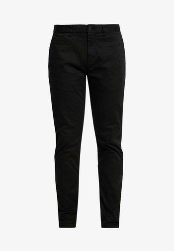 MOTT CLASSIC SLIM FIT - Chino kalhoty - black