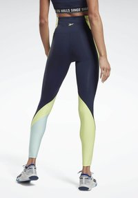 Reebok - LES MILLS® HIGH-RISE COLORBLOCK LUX LEGGINGS - Leggings - blue - 1