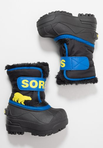 CHILDRENS - Winter boots - black/super blue