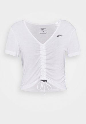 CINCHED - Print T-shirt - white