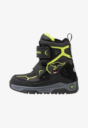 TROOPER RTX - Winter boots - jet black/lime