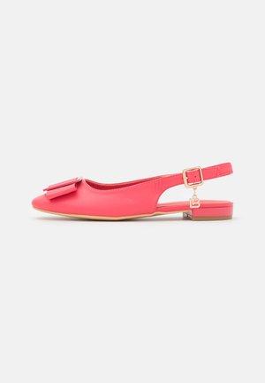 Slingback ballet pumps - fuxia