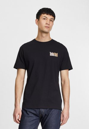 STACKED TEE - Print T-shirt - black
