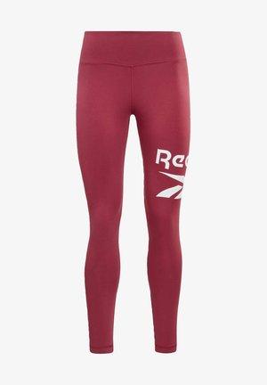 REEBOK IDENTITY COTTON GRAPHIC - Leggings - pink