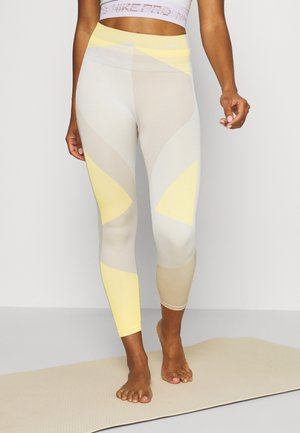 SEAMLESS SCULPT 7/8 - Leggings - pale ivory/shimmer