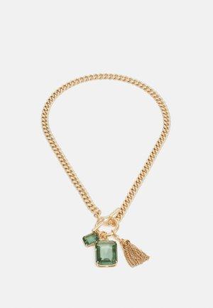 Halskette - gold-coloured/green